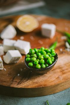 Fresh peas and fresh paneer