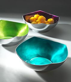 4 point salad bowl in recycled enamelled aluminium