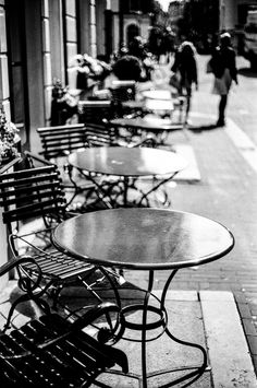 Amsterdam, Take a Seat! by Irene Petzwinkler on Outdoor Tables, Outdoor Decor, Take A Seat, Netherlands, Amsterdam, Take That, Outdoor Furniture, Black And White, Irene