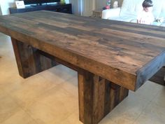 Custom built dining table. Rustic. Dining table. Reclaimed wood.