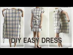 Refashion Dress, Diy Dress, Diy Simple Dress, Simple Dresses, Wrap Dress, Summer Dresses, Remake Clothes, Sewing Clothes, Dress Tutorials