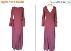 Faded Rose Fluted Sleeves Low Back Slinky Festival Dress, Boho Festival, Dresses For Sale, Dresses For Work, Dress Sale, Maxi Dresses, Wedding Dresses, Pink Color, Boho Chic
