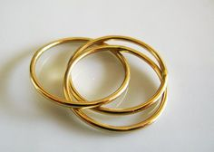 8b5743c57d6 Anniversary Gold Ring. Thin Intertwined Rolling Ring. 14K Gold Trinity  Engagement Ring. Three Interlocked Bands. Handmade By Amallias