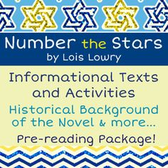 Comprehensive background package for Lowry's novel Number the Stars. Three sets of informational text - Lois Lowry Bio, An Introduction to Denmark, and Denmark During WWII. Six student activity pages as well, answer key included. 5th Grade Reading, Student Reading, Number The Stars, Student Survey, Teaching Language Arts, Book Study, Read Aloud, Middle School, High School
