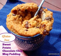 I always forget just how good & satisfying this recipe is! Sweet Potato Chocolate Chip Mug Pudding from Gluten Free Easily #glutenfree #paleo