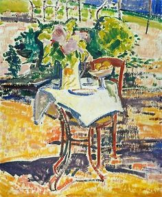 'The Iron Table', - 21 x 18 cm - 1911 - Oil On Canvas by Alfred Henry Maurer United States) Art Eras, Francis Picabia, Sonia Delaunay, Georges Braque, Iron Table, Oil Painting Reproductions, Art Deco Era, Pablo Picasso, American Art