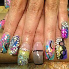 Colorful nails art