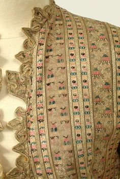 Brocade Anteri (Turkish Robe), 19th Century I saw amazing ply-splitting cordage at the Sadberk Hanim Muzesi.  Unable to photograph it, I'm now searching for images...