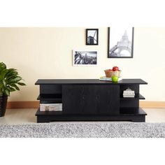 Colbie Modern TV Cabinet in Black | Overstock.com Shopping - The Best Deals on Entertainment Centers