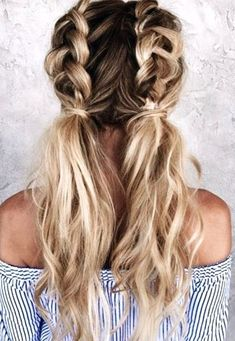 46 Easy And Cute Back To School Hairstyles You Must Try – Page 2 of 46 Acconciature facili e carine per tornare a scuola che devi provare – Pagina 2 di Cute Hairstyles For School, Easy Hairstyles For Long Hair, Teen Hairstyles, Braided Hairstyles, Braided Ponytail, Hairstyle Ideas, Everyday Hairstyles, Hairstyles 2018, Wedding Hairstyles