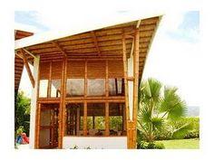 Casa chinauta - Paperblog Cabana, Bamboo House Design, Bamboo Building, Bamboo Architecture, Bamboo Crafts, House Roof, Cottage Homes, Prefab, Pergola
