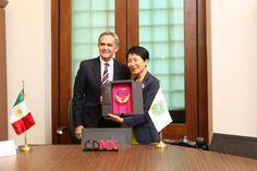Se reunió Naoko Ishii presidenta del Fondo para el Medio Ambiente Mundial con el Jefe de Gobierno