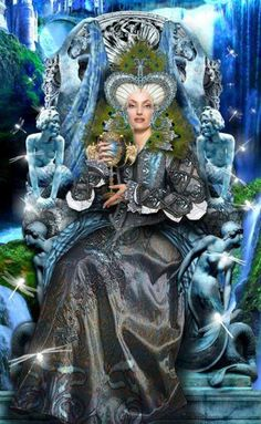 The Queen of Cups' element is Water which governs the emotions and feelings so this Queen is concerned with matters of the heart, love, relationships, family, happiness and personal fulfilment.  Her own happiness and the happiness of those around her is especially important to her.