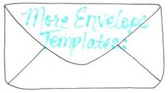 links to over 100 free hand made envelope templates or tutorials = awesome!