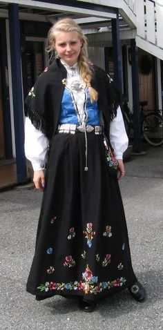 Norwegian national costume from Rogaland
