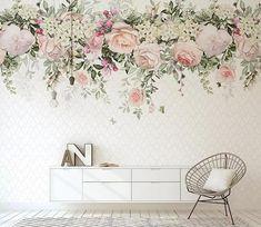 3D White Floral Self-adhesive Wallpaper Mural Peel and Stick   Etsy Paper Wallpaper, Home Wallpaper, Self Adhesive Wallpaper, Custom Wallpaper, Flower Wallpaper, Peel And Stick Wallpaper, Wallpaper Paste, Adhesive Vinyl, Wallpaper Designs