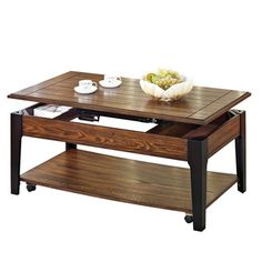 Magus Brown Oak and Black Lift Top Coffee Table - Overstock™ Shopping - Great Deals on Coffee, Sofa & End Tables