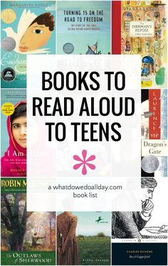 A list of good books to read loud to teens at home or in the high school classroom. Choose from fiction, memoirs, poetry and more. Read Aloud Books, Great Books To Read, Ya Books, Good Books, Best Children Books, Books For Teens, Childrens Books, Teen Books, High School Books