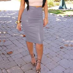 Women Pu Leather Skirt Autumn Streetwear Casual Office Work Wear Bodycon Pencil Skirt High Waist Long Velvet Skirts Women Jupe Color Black Size S Long Leather Skirt, Leather Skirts, Lady, Dresser, Velvet Skirt, Body Con Skirt, Sexy Skirt, Casual Skirts, Tight Skirts