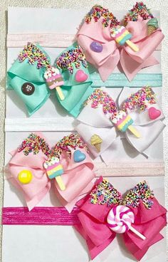 Discover art inspiration, ideas, styles hair bows diy hair bows, making . Handmade Hair Bows, Diy Hair Bows, Diy Bow, Kids Hair Clips, Baby Hair Clips, Hair Kids, Baby Girl Bows, Girls Bows, Anniversaire Candy Land