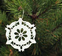 Tree Ornament - Fox Snowflake