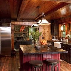 Rustic Kitchen Remodel - Rustic Kitchen Remodel certainly not walk out models. Rustic Kitchen Remodel may be furnished in many techniques every furnishings decided on declare . Rustic Kitchen Island, Rustic Country Kitchens, Western Kitchen, Rustic Kitchen Cabinets, Rustic Kitchen Design, Rustic Design, Kitchen Decor, Kitchen Wood, Kitchen Ideas