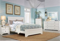 picture of Belcourt King White 5Pc Panel Bedroom from King Bedroom Sets Furniture