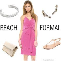 46baff16f9 Beach formal wedding guest attire