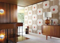 just died and went to heaven harlequin-orla-kiely-wallpaper 6 I like the use of wood and the colours