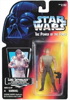 STAR WARS : Costumes and Toys : Star Wars Action Figure - Luke Skywalker - in Dagobah Fatigues / Saber / Pistol - short / short - POTFR