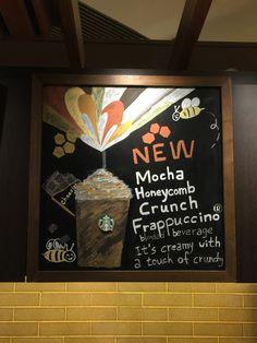 Frappuccino, Honeycomb, Mocha, Chalkboard Quotes, Starbucks, Art Quotes, Drawings, Moka, Sketch