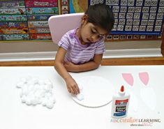 Easy Paper Plate Bunny Craft for Kids Cotton Balls Bunny