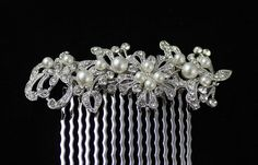 Pearl andCrystal Bridal Hair comb Wedding Hair by on Etsy Vintage Wedding Hair, Hair Comb Wedding, Bridal Hair, Dream Wedding, Wedding Dreams, Wedding Stuff, Pearl Bridal, Vintage Glamour, Wedding Hair Accessories