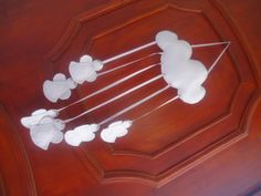MissFelicidade Lembrancinhas: Móbile nuvem com anjinhos