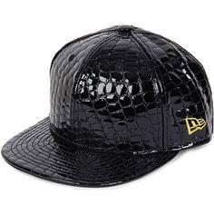 NEW ERA Jeremy Scott faux-crocodile 59FIFTY baseball cap (Black