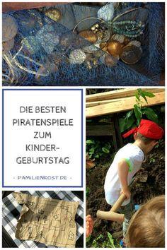 Ihr plant eine Piratenparty zu einem Piratengeburtstag? Dann haben wir die passenden Spiele für diesen Kindergeburtstag mit Schatzsuche und echtem Gold sowie leckere Rezept-Ideen für kleine Piraten: http://www.familienkost.de/piraten_spiele.php