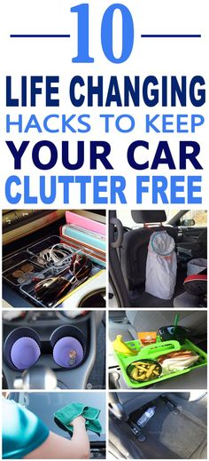 These are the BEST car decluttering hacks. These hacks will make my car organization so much easier. Pinning for sure!!
