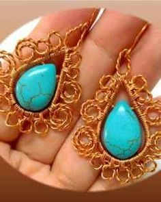 How to make the calypso wire spiral earrings. Video tutorial