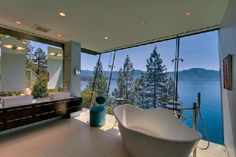 A tub with a view!  <3