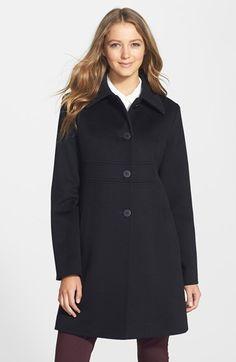 4348f283720 Fleurette Shirt Collar Loro Piana Wool Coat (Petite) (Nordstrom Exclusive)