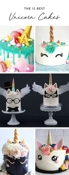 DIY Party Food 2017 / 2018 Nothing is more whimsical than an enchanted, edible horse. See for yourself with these 12 completely magical (and delicious) unicorn cakes. Unicorn Foods, Unicorn Cakes, Beautiful Cakes, Amazing Cakes, Nake Cake, Decoration Patisserie, Cupcakes Decorados, Unicorn Birthday Parties, Unicorn Party