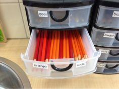 Juf Margot: Inrichting/organisatie - Kleurpotloden (verbetering)