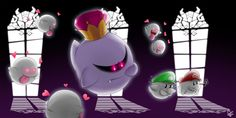 Well it looks like not ALL Boos are affected by the incantations of the handsome Boo Mario & Luigi. King Boo is about to figure out, Mar. Mario Y Luigi, Super Mario And Luigi, Super Mario Art, Super Mario Brothers, Luigi Mansion, Creepypasta Anime, Mario Comics, King Boo, Paper Mario