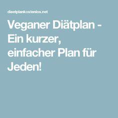 Veganer Diätplan - Ein kurzer, einfacher Plan für Jeden!