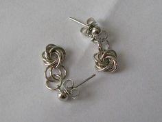 Love Knot Earrings Silver Earrings by VintagePlusCrafts on Etsy, $10.00