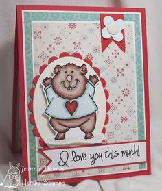 Hambo Stamps - Hamster Heart, Card created by Jeannie Thomas of Dragonfly Journeys.