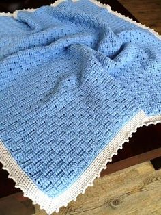 Sewing Baby Blanket Basket Weave Afghan Baby Blanket By Joanne Loh - Free Crochet Pattern - (ravelry) - Crochet Afgans, Baby Afghan Crochet, Baby Afghans, Crochet Blanket Patterns, Baby Blankets, Knit Patterns, Crochet For Kids, Free Crochet, Knit Crochet