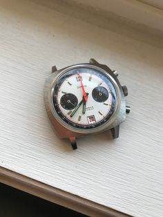 "Vintage Exotic Poorman's ""Camaro"" Chronograph Valjoux 7734 - NEVER POLISHED   eBay"