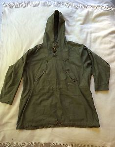 Vintage WWII US Army 1943 55-P-4104 OD Color Cotton Field ANORAK Parka -Medium in Collectibles, Militaria, WW II (1939-45) | eBay