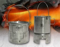 Pathfinder Stainless Steel Bush Pot Cooking Kit - Self Reliance Outfitters™